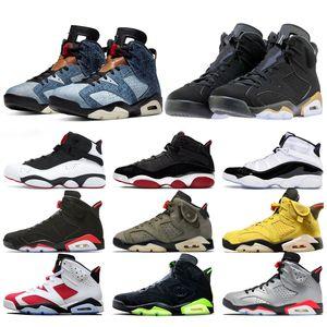 Nike Air Jordan 6 Retro Designer Men 6 6s Basketball Chaussures UNC chat noir Gatorade blanc Tinker Carmine Marron Oreo Cheap Trainer Sport Sneaker Taille 41-47