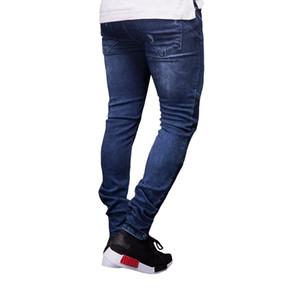 Erkek Tasarımcı Biker Jeans Yeni Yaz İlkbahar Nakış Denim Blue dökümlü Hiphop Sokak Ripped Jeans