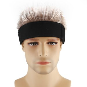Novelty Flair Hair Visor Sun Cap Wig Peaked Adjustable Baseball Hat With Fake Hairs