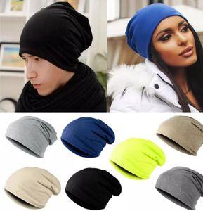 bonnet en gros unisexe Femmes Hommes tricot d'hiver chaud Ski Crochet Slouch Chapeau Bonnet oversize Pull chapeau de tricot chapeaux de hip-hop A0219