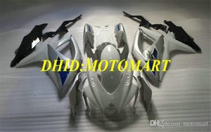 Injection mold Fairing kit for SUZUKI GSXR600 750 K8 08 09 GSXR600 GSXR750 2008 2009 Top white silver Fairings set SA38