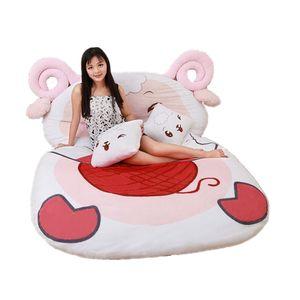 Dorimytrader Giant Animal Sheep Sleeping Bag Tatami Stuffed Cartoon Sheeps Soft Bed Carpet Mattress Beanbag for Kids Gift DY60849