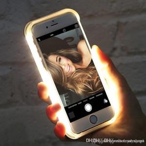 UK0001 Luminosa Iluminado Lanterna LED Luz Selfie Preencher Luz Telefone Celular Caso Tampa Do Telefone para o iPhone e41
