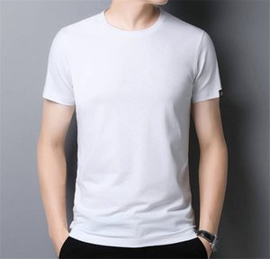 Crew Neck Fashion Short Sleeve Tees Casual Summer Regular Length Loose Apparel Solid Color Homme Tshirts