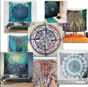 150*130cm polyester Bohemian Tapestry Mandala Beach Towels Hippie Throw Yoga Mat Towel Indian Polyester wall hanging Decor Tapestries K231
