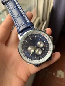 أعلى جودة العلامة التجارية الجديدة التلقائي الرجال ساعة اليد نافيتيمر Ti3 الأزرق الهاتفي الساعات الجلود 1884 الأزياء الذكور الفاخرة ووتش التسوق مجانا # 66