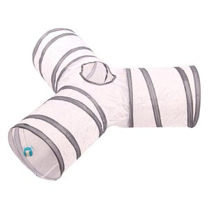 2 3 4 5 holes Foldable Funny Pet tunnel Indoor Outdoor Cat Play Training toys for Cat Rabbit Animal Play Tunnel Tube T-joint