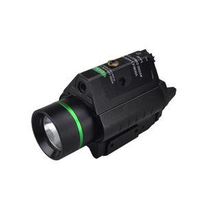 Laser rosso 5mW torcia a LED per esterni M6 verde / Tactical Flashlight LED Glare a lungo raggio di caccia del casco Hanging Light Gun