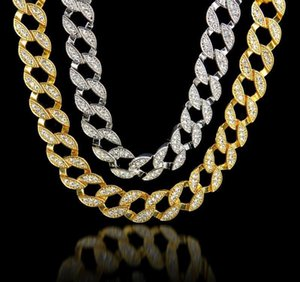 Hip Hop Gold Chain For Men Iced Out Chain Necklace Jewelry Cuban Necklace Fashion Punk Necklace