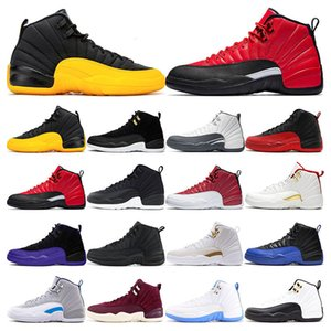 air retro jordan 12  FIBA ​​Jeu Royal Winterize Gym Rouge Michigan Bordeaux 12 Le Maître de la grippe Jeu Taxi sport baskets formateurs taille 7-13
