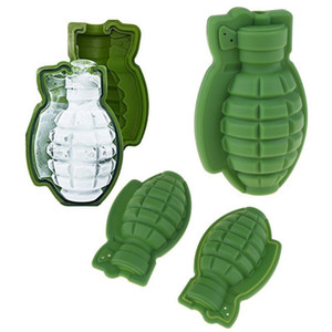 Grenade forme 3D Ice Cube Moule Grenade forme Ice Cube Maker silicone 3D piolet Genie Outils de cuisine