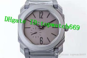 OB Reloj de lujo Reloj OCTO Extra-Thin Movimiento automático Cristal de zafiro Octágono Caja de acero inoxidable Caja transparente de nuevo Reloj de hombre Reloj
