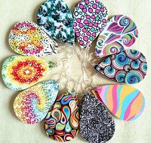 2020 Druzy Drusy gota Pendientes del perno prisionero 15 colores druzy Crystal geometría de resina de joyería de los pendientes para las mujeres de la muchacha Brithday navidad regalo