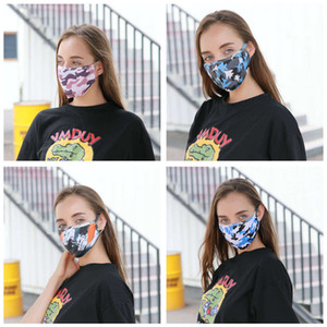 Fashion Washable Reusable anti-dust Cloth Mouth Face Masks Camouflage Sponge Mask Anti Cold Mask Humanized
