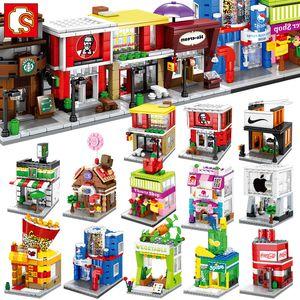 Mini Building Blocks Sembo Street negozio Carino Micro SHOP Ice Cream educativi per bambini giocattoli Mattoni regali dei bambini