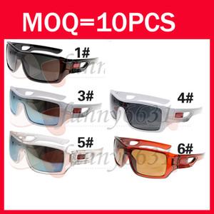 Chegada nova Estilo Clássico dos homens ESPORTE Óculos De Sol Nova Cor Ciclismo Óculos De Sol Preto Quadro Acrílico Flame Lens boa qualidade frete grátis