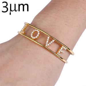 3UMeter Kristallhohl Namen Bangl Bar Armband Custom Name Personalisierte Armbänder für Etsy Best Friend Geschenke Drop Shipping