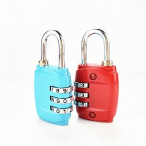 Portátil 3 Marque o número de Digit Combinação senha de bloqueio de viagem Segurança Proteger Locker viagem Lock para bagagem Mochila gaveta 8 cores