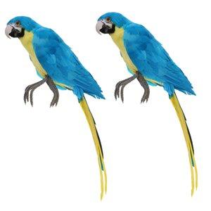2pcs Искусственное перо птицы Parrot Craft Таксидермия Home Art Decor Украшение