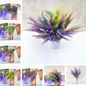 Nuevo 5 Estilos Artificia decoración de flores románticas Provenza lavanda falso Floristerias Inicio favor simulación del ramo del jardín I260