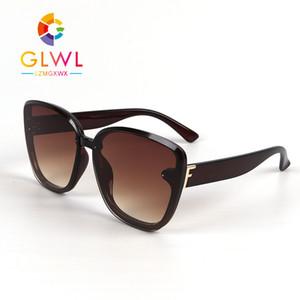 Las mujeres Gafas de sol del gradiente de gran tamaño gafas de sol de la vendimia de las señoras Gafas Mujer Drive retro sombrea Trending Productos