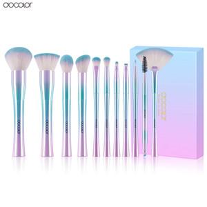 Docolor 11PCS Makeup Brushes Set Best Christmas Gift Powder Foundation Eyeshadow Make Up Brushes Cosmetic Soft Synthetic Hair
