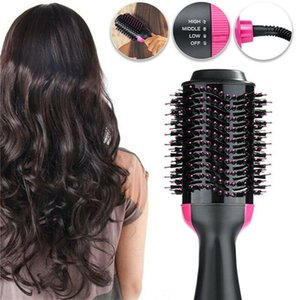2020 New Professional One Step Hair Dryer Brush Volumizer Blow Straightener and Curler Salon 2 In 1 Electric Hot Air Curling Iron Comb