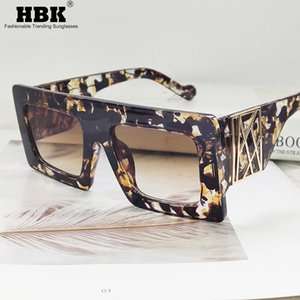 Classic Oversized Square Sunglasses for Men Women High Quality Vintage Fashion Glasses Male Eyewear Yellow Floral Ladies Shades