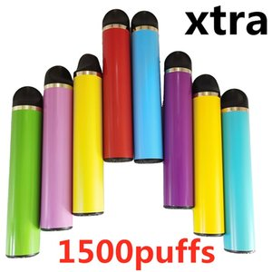 1500puffs à usage unique Vape Pen Xtra 5ml Cartrdiges Pod nouvel emballage stylos Vaporizer Starter Kit 11 Couleurs Fait sur mesure vide