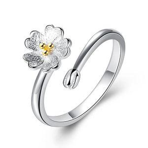 925 Sterling Silver Mulheres Anéis de Cerejas Em Forma de Anel de Amor Sorte Dedo Presente de Casamento Designer de Jóias