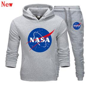 Designer de moda NASA Treino Primavera Outono Casual Marca Unissex Sportswear Dos Homens Ternos de Pista de Alta Qualidade Hoodies Roupas Masculinas QJ15