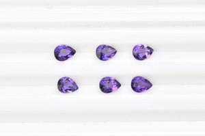 10pcs lot Dark Purple 8x12-15x20mm Pear Brilliant Facet Cut 100% Authentic Natural Amethyst Crystal High Quality Gem Stones For Jewelry