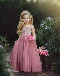 Moda Bonito Do Laço Do Bebê Menina Vestidos de Conforto Pageant Vestido Da Menina de Flor De Aniversário De Casamento Da Dama de Honra Vestidos Vestidos Formais