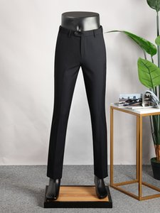 Mens Slim Fit Pencil Pants Suit Pants Smart Casual Straight Trousers Ankle-Length Thin Summer Trousers Plus Size XS-7XL A1