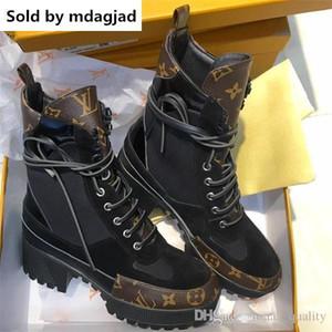 Laureate Çöl Botları Bayan Deri Rahat Baskılı Tasarımcı Ayakkabı Bayanlar Platformu Topuklu Ayak Bileği Bootie Martin Çizmeler Kutusu Ile