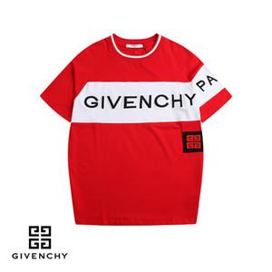 19ss 여름 스트리트웨어 유럽 GIV 파리 패션 남성 높은 품질 빅은 6011 구멍 코튼 티셔츠 캐주얼 여성 티 t- 셔츠 S-2XL 브로큰