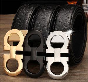 Entrega gratuita Europeia e americana Hot-seller Designer de marca masculino estilo de negócios de couro preto de alta qualidade New Homens Batt Cinturão