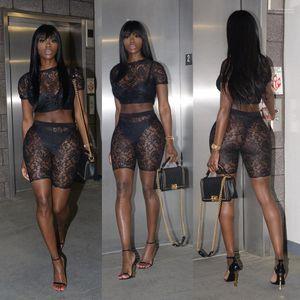 2pcs Abiti Estate Designer Pizzo Magro Abbigliamento Estate casuale sexy del ginocchio Lunghezza Tute sexy delle donne scava fuori