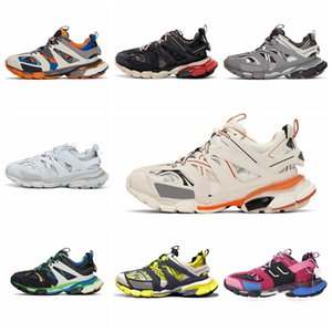 Triple S Track 3.0 Tess S Sneaker New Colors MEN Women Casual Shoes Designer White Orange Track 3.0 Shoes Low Top Lace-Up Outdoor Chaussures