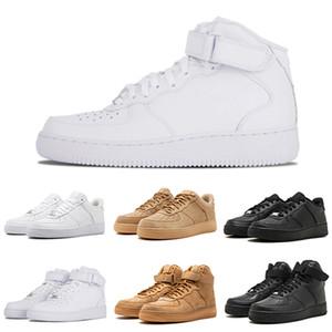 force 1 Chaussures de course de designer homme femmes One 1 Low High White Orange Wheat Mens formateurs de planche à roulettes de sport Sneakers 36-45 Drop Ship Wholesale