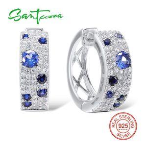 Santuzza Boucles d'oreilles en argent pour les femmes 925 Sterling Silver Stud Earrings Argent 925 avec des pierres Cubic Zircone Brincos Bijoux T7190617