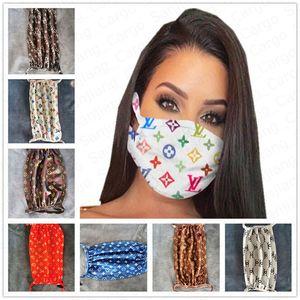 máscara facial na moda máscaras boca de impressão mulheres meninas Ciclismo boca-mufla respirável adultos máscaras lavável reutilizáveis E41102