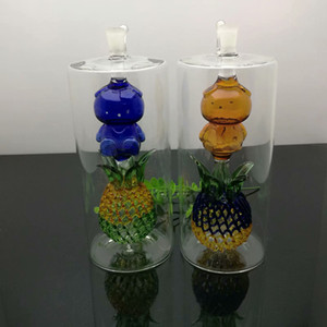 Super silent pineapple-shaped cigarette kettle Wholesale Glass Water Pipes Tobacco Accessories Glass Ash Catcher