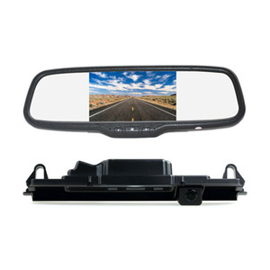 Rear View Car Parking Reverse Backup Camera Mirror Monitor Kit for Toyota Yaris Vitz Porte XP90 XP130
