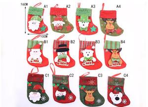 Calza della Befana Babbo Natale calza regalo mini bag bambini natale decorazione del sacchetto di caramelle pallina di Natale ornamenti albero di forniture