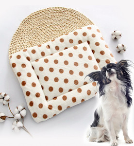 디자이너 애완 동물 액세서리 플란넬 코튼 개 슬리핑 매트 통기성 소프트 사계 유니버설 개는 애완 동물 용품 침대