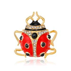 desenho animado personalidade da moda broche embutidos com óleo de perfuração Seven Star Ladybug Broche venda quente broche atacado