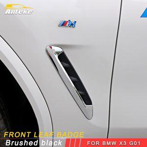2018 BMW X3 G01에 대 한 자동차 사이드 윙 펜더 문 엠 블 럼 배지 스티커 트림 자동차 스타일링 자동차 스티커
