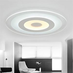 Círculo ultrafino de acrílico moderno con luces de techo para el dormitorio de la sala lamparas de techo colgante lámpara de techo led - I148