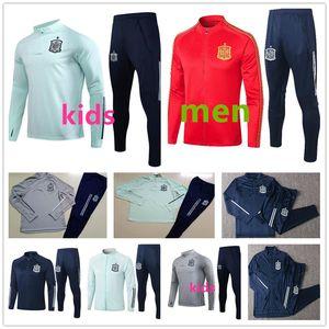 Giacca sportiva Barcelona Spagna 2020 tuta da allenamento per adulti + bambini di alta qualità Jacket20 21 tuta da allenamento da calcio